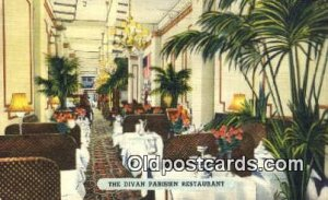 Divan Parisien Restaurant, New York City, NYC USA 1952 close to perfect corne...