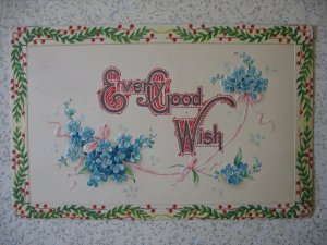 SORRY YOURE SICK greeting with verse; flat, not embossed. pre-1915