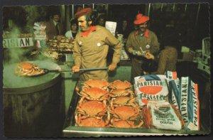 California SAN FRANCISCO Crab Stand Colorful Vendors Fisherman's Wharf - Chrome