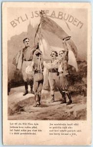 CZECHOSLOVAKIA  Poster Style  CZECH PROPAGANDA  Byli Jsme A Budem  Postcard