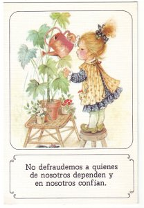 P1495 vintage spain art do not disappoint those that trust & depend on us