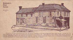 Kentucky's First Tavern, Erected in 1787, Mercer National Bank, Kentucky, 00-...