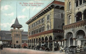 St. Marks Hotel & Pier Entrance, Venice, California, Early Postcard, Unused