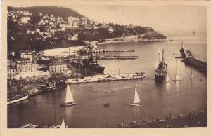 NICE, Le Port et le Mont-Boron, Sail boats, Alpes Maritimes, Cote d' Azur, Fr...