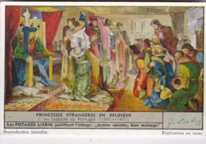 Liebig Trade Card S1518 Foreign Princesses In Belgium No 1 Isabelle de Portug...