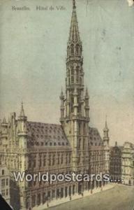 Bruxelles, Belgium, België, la Belgique, Belgien Hotel De Ville  Hotel De Ville