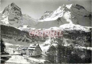 Modern Postcard The Gourette Pyrenees in Winter