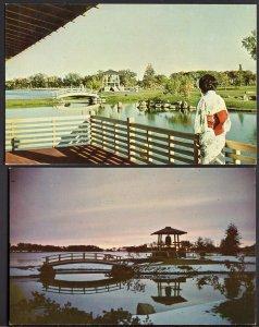 41320) (2) Alberta LETHBRIDGE Nikka Yuko Centennial Garden - Chrome