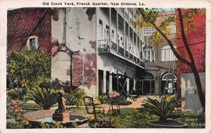 Old Court Yard, French Quarter, New Orleans, Louisiana, 1930 Postcard, Used
