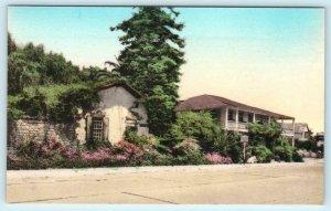 MONTEREY, California CA ~ Handcolored THE LARKIN HOUSE Albertype Postcard