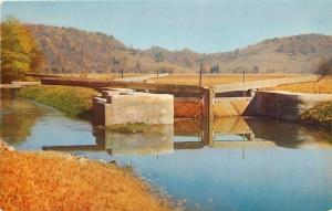 Metamora Indiana~Millville Locks~Whitewater Canal~Timber Foundation~1950s PC