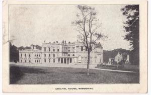 Dorset; Crichel House, Wimborne PPC, Edward VII Wimborne PMK to Wallisdown