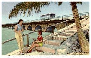 Florida key West  Sexy Girls fishing on Over-seas Highway