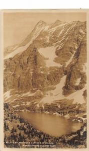 F16/ Glacier National Park Montana RPPC Postcard c1910 Mt Jackson Lake Wilson