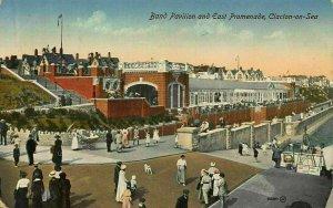 Clacton on Sea Band Pavilion and East Promenade Postcard