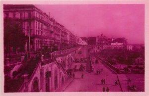 Algeria Alger photo postcard boulevard de la republique et les rampes