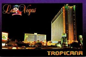 Nevada Las Vegas Tropicana Hotel & Casino At Night