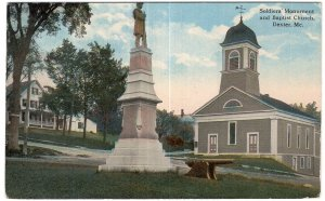 Dexter, Maine, Soldiers' Monument and Baptist Church