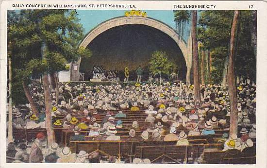 Daily Concert in Williams Park, St. Petersburg, Florida,  PU-1931