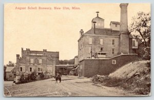 New Ulm Minnesota~August Schell Brewery~German Beer & Lagers~1912 Sepia PC