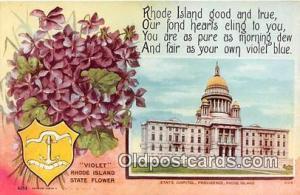 Violet, State Capitol Providence, RI, USA Postcard Post Card Providence, RI, ...