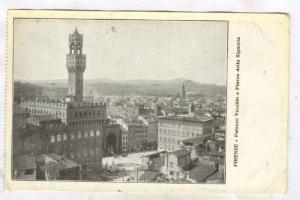 FIRENZE, Palazzo Vecchio e Piazza della Signoria, Toscana, Italy, PU-1925