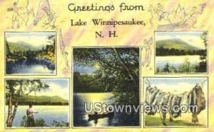 Greetings From Lake Winnipesaukee NH 1949