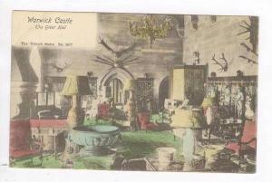 Interior of Great Hall, Warwick Castle, UK 1900-10s