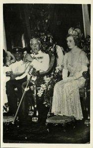 malay malaysia, JOHOR JOHORE, Sultan Ibrahim & Helen Bartholomew (1931) RPPC