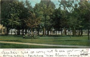 1905 Elkhorn Park Wisconsin undivided Bossleman postcard 3471