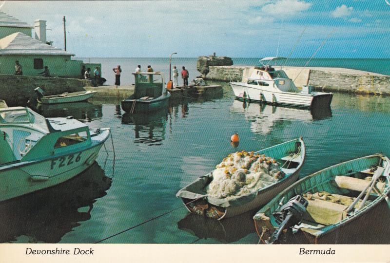 DEVONSHIRE DOCK, Bermuda, PU-1977; Fisherman's Anchorage, Fishing Boats