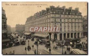 Old Postcard Paris Rue St Lazare and & # 39Hotel Terminus