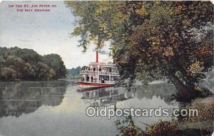 Up the St Joe River May Graham Ship Postcard Post Card May Graham Postcard Po...
