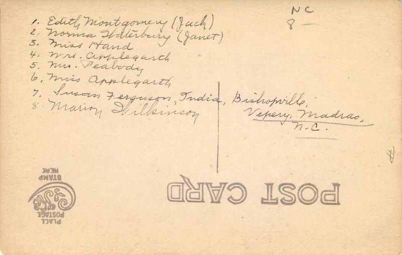 Vepery Madras India~Amer Bapt Women Missions~Salaam~1920s RPPC Applegarth