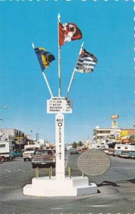 Mile 0 Post, Dawson Creek, British Columbia, Canada, 1940-1960s