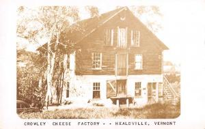 Healdville Vermont Crowley Cheese Factory Real Photo Antique Postcard K89256
