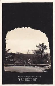 RP; Mount Rushmore thru tunnel on Iron Mountain Road, South Dakota, 30-40s
