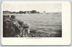 Nahant Massachusetts~Boat Landing From Across Rocks~Steamer~Sailboats~c1905