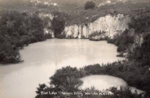 Blue Lake Waiora Valley Wairekei New Zealand Real Photo Postcard