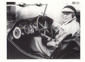 Montague Johnstone F1 Lady Driver 1933 Monte Carlo Rally Race Postcard