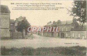 Old Postcard Joigny Yonne Faubourg de Porte Percy Road Brion Basically Store ...
