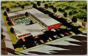 Pikesville, Maryland Postcard HOLIDAY INN NORTHWEST Motel Artist's View c1960s