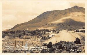 Virginia City NV Mt. Davidson Consolidated Virginia Mine Real Photo Postcard
