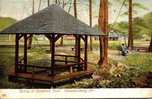 Pennsylvania Chambersburg Spring At Caledonia Park 1910