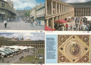 Piece Hall Halifax Shops Woolshops Coat Of Arms Market Day Traders 4x Postcard s