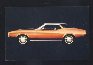 1971 FORD MUSTANG GRANDE VINTAGE CAR DEALER ADVERTISING POSTCARD '71 CARS