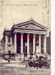 1905 Tuck & Sons NEW ORLEANS Series No 1004 CITY HALL pre-1907
