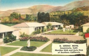 Carpenteria El Sereno Motel 1940s roadside Santa Barbara California Travel 8472