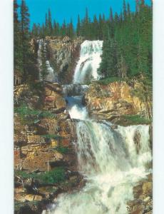 Unused Pre-1980 WATERFALL SCENE Jasper Park Alberta AB E4289