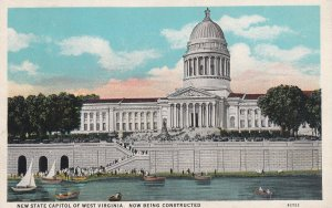 WEST VIRGINIA, 1910-1930s; New State Capitol, New Being Constructed, Sailboats